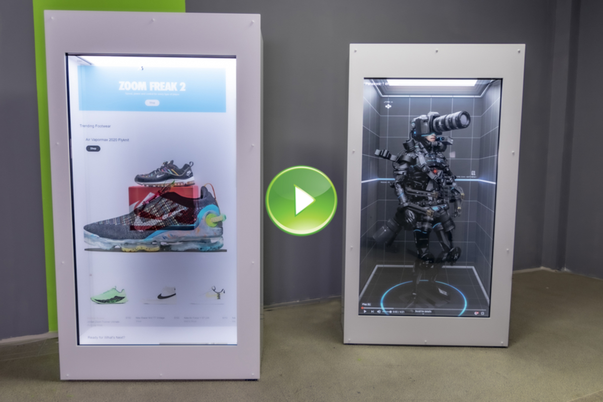Transparent LCD Touch ShowCase